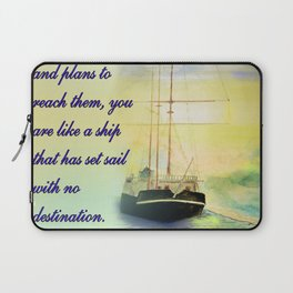 Without goals and plans Laptop Sleeve