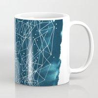 night sky Mugs featuring Night sky by Dreamy Me
