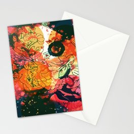 Vintage Pop Abstract Chinese Pattern Stationery Cards