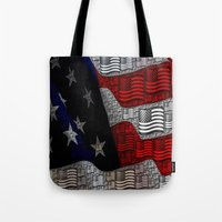 american Tote Bags featuring American by Tracy66