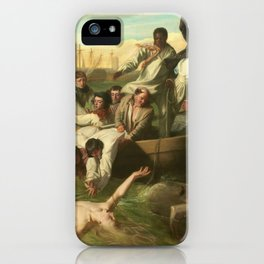 Classical Masterpiece 'Watson and the Shark' by John Singleton Copley iPhone Case
