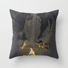 Let's settle it - in the shadows.  Throw Pillow