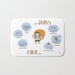 Minijobs (Spanish version) Bath Mat