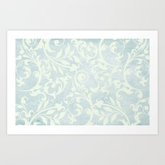 Shabby Chic Damask Art Print