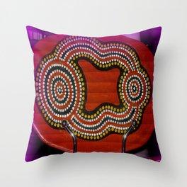 Aboriginal Art Throw Pillow
