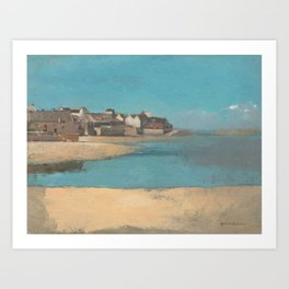 Village by the Sea in Brittany Art Print