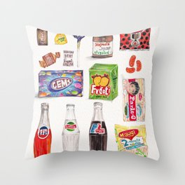 Treats from the Past Throw Pillow