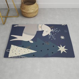 And So It is Christmas Rug