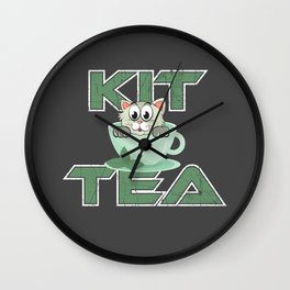 Cat Lover Gift - Kit Tea Wall Clock