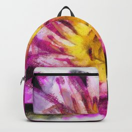 Purple Violet Lotus Flower Art Backpack