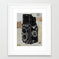 old school Framed Art Prints featuring old school by LouiJoverArt