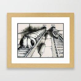 Subway Caterpillars  Framed Art Print