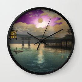 Miyajima and Galaxy Wall Clock