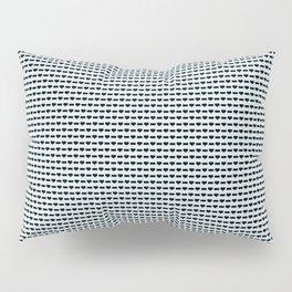 Heartless Pattern in Aqua Pillow Sham