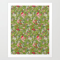 painted floral Art Print