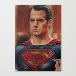 Superman Man of steel Canvas Print
