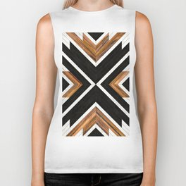 Urban Tribal Pattern 1 - Concrete and Wood Biker Tank