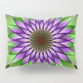 Lavender lotus mandala Pillow Sham