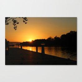 Golden Hour: Tuscaloosa Canvas Print
