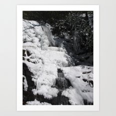 Frozen Waterfall Art Print