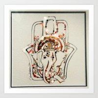 Elphant edit  Art Print