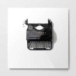 Typewriter (Black and White) Metal Print