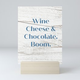 Wine Cheese & Chocolate Mini Art Print