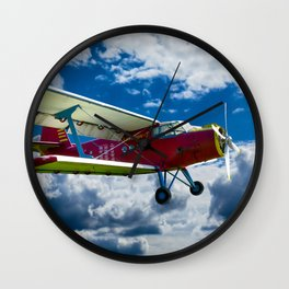 Single Propeller Plane Wall Clock