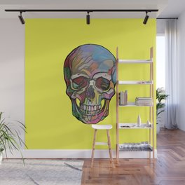 The Happy Skull (Yelow) Wall Mural