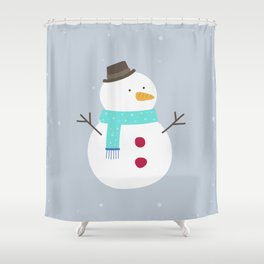 Snow winter man Shower Curtain