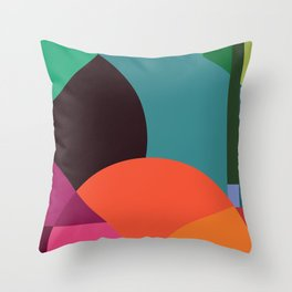 Pink Sunsets Geometric Abstract - Bybrije Throw Pillow