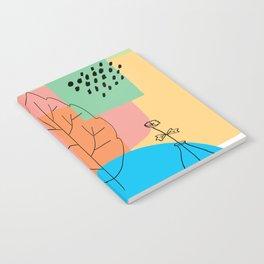 Floral Seasons Illustration Digital Collage Notebook