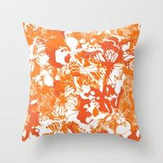 My orange butterflies Throw Pillow