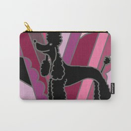 Cool Black Poodle Dog Art Abstract Carry-All Pouch