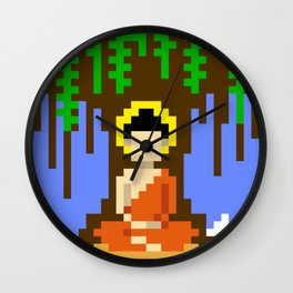 Buddha under a tree Wall Clock