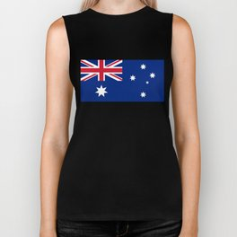 The National flag of Australia, authentic version (color & scale 1:2) Biker Tank