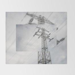 Electric power transmission Throw Blanket