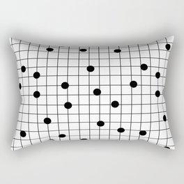 Dot Grid map art print black and white minimal modern pop trendy urban brooklyn design streets new y Rectangular Pillow