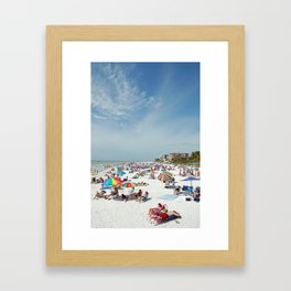 Beachgoers At Fort Myers Framed Art Print