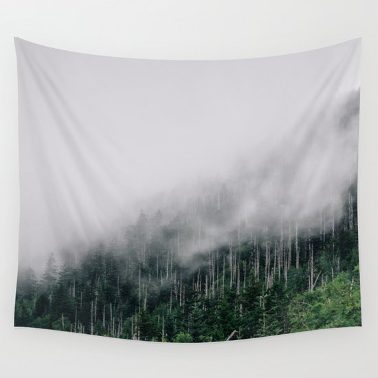 Misty Great Smoky National Park  Wall Tapestry
