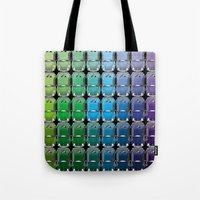 vw Tote Bags featuring VW spectrum by Andrew Mark Hunter