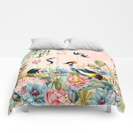 Landscapes of birds in paradise 2 Comforters