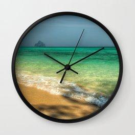 Shaded Beach Wall Clock