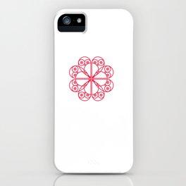 076 owl heart iPhone Case