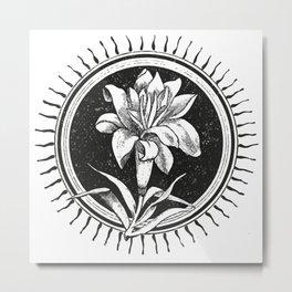 White flower Flor blanca Metal Print