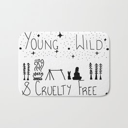 Young wild and cruelty free Bath Mat