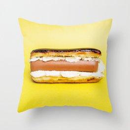 Hot Dog Eclair Throw Pillow
