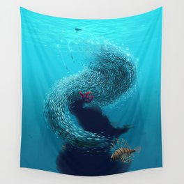 coral shelter Wall Tapestry
