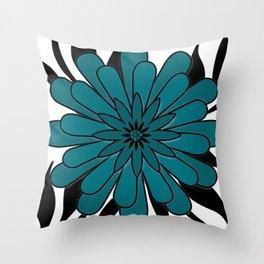 Blue flower . Throw Pillow