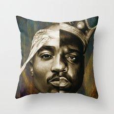 2 PAC & BIGGIE Throw Pillow